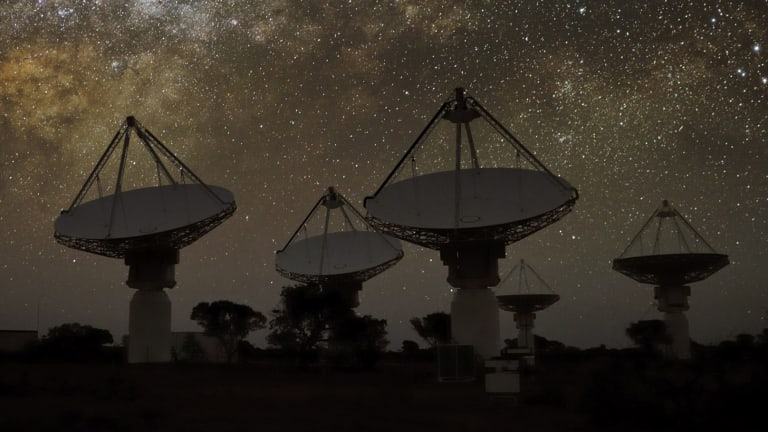CSIRO's Square Kilometre Array radio telescope in Western Australia.