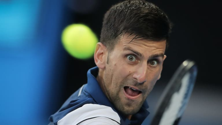 Top billing: Hyeon Chung's clash with Novak Djokovic averaged a then record of 437,500 viewers.