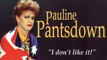 The cover of Pauline Pantsdown's 1998 CD, 'I don't like it'.