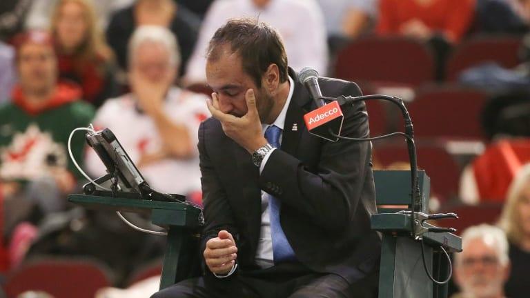 Chair umpire Arnaud Gabas has had surgery.