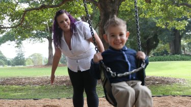 April Sheppeard and her son Jeraquay: The support of LaunchPad has been a weight off her shoulders.