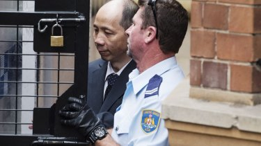 Mr Xie leaves court on Tuesday.