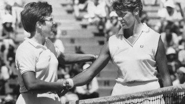 Billie Jean King (left) said she had hoped Margaret Court (right) would attend the Australian Open this year so the pair could have a discussion about the issue.