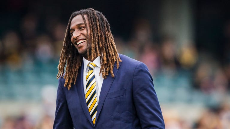"""Nic Naitanui said he could """"train fully right at the moment""""."""