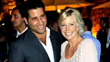 Sally Faulkner, who has returned to Australia without the two children she tried to retrieve from Lebanon, seen here with estranged husband Ali Elamine.
