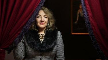 Curator Evelyn Tsitas.
