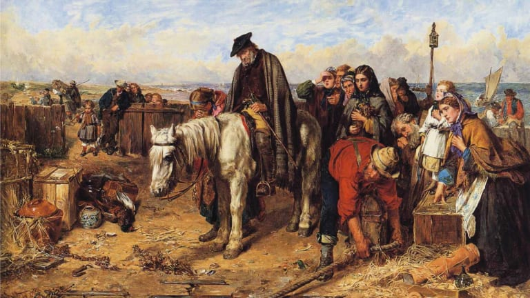 by Thomas Faed, completed in 1865, is a depiction of Scotland's Highland Clearances.
