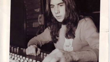 Tony Cohen in his early days behind the mixing desk.