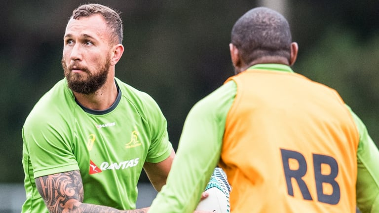Tight lipped: Quade Cooper has not commented publicly since his demotion in December.