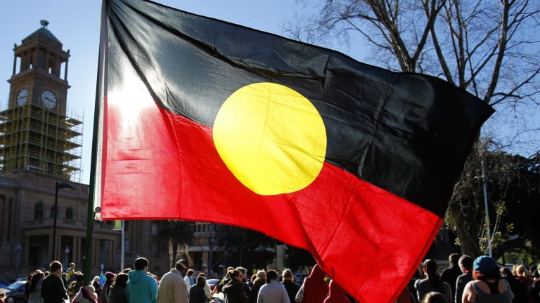 The Indigenous flag is a deadly design – simple, meaningful. No rainbow serpent. A dream for kids to draw.