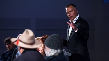 Stan Grant speaking at the gathering.