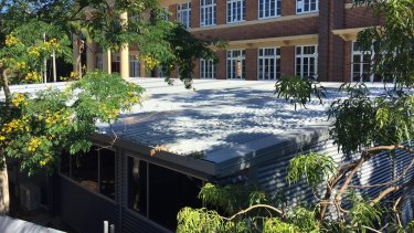 Temporary classrooms at West End State School