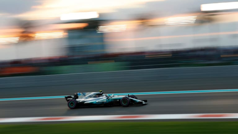 Mercedes driver Valtteri Bottas en route to victory in the Formula One Grand Prix at the Yas Marina racetrack in Abu Dhabi on Sunday.