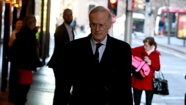 SYDNEY, AUSTRALIA - AUGUST 31:  Dyson Heydon arrives at the Royal Commission into Trade Unions on August 31, 2015 in Sydney, Australia.  (Photo by Ben Rushton/Fairfax Media)