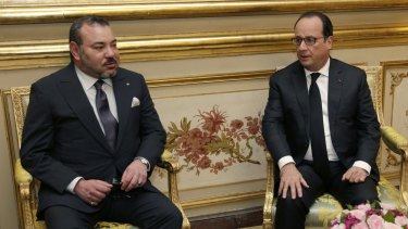 Morocco's King Mohammed VI, left, and France's President Francois Hollande in 2015.