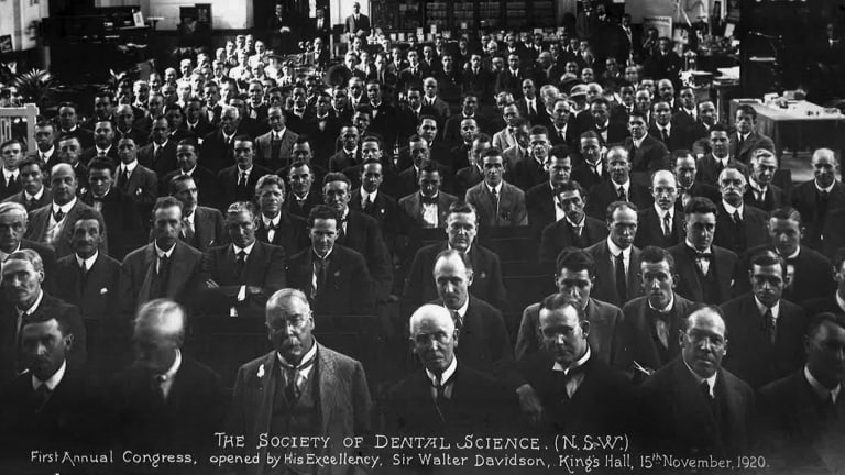 The First Annual Congress of The Society of Dental Science (NSW), November 1920.