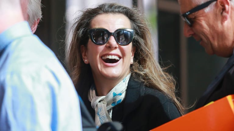 Kathy Jackson outside Melbourne Magistrates Court before a pre-trial hearing into theft and fraud charges.