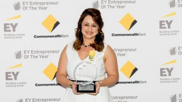 Melissa Abu-Gazaleh was awarded social entrepreneur of the year.