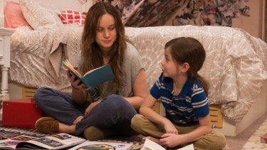 Brie Larson and Jacob Tremblay star in Room (2015)