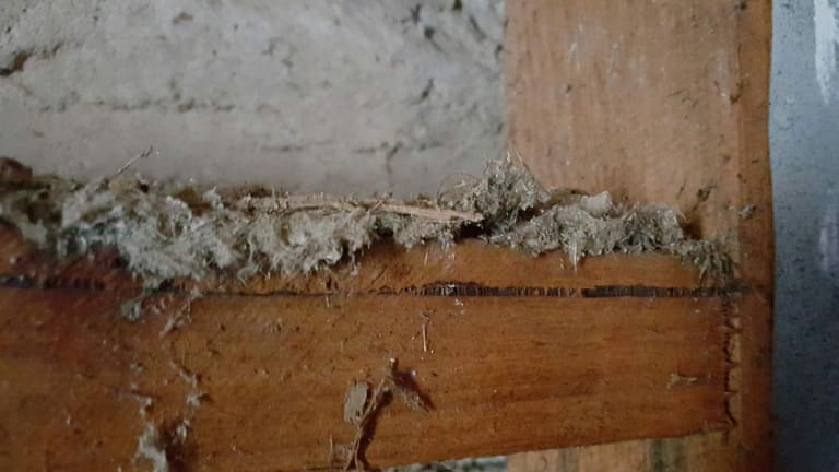 Fluffy Asbestos Insulation Discovered In The Wall Cavities Of A Weston Creek House Some