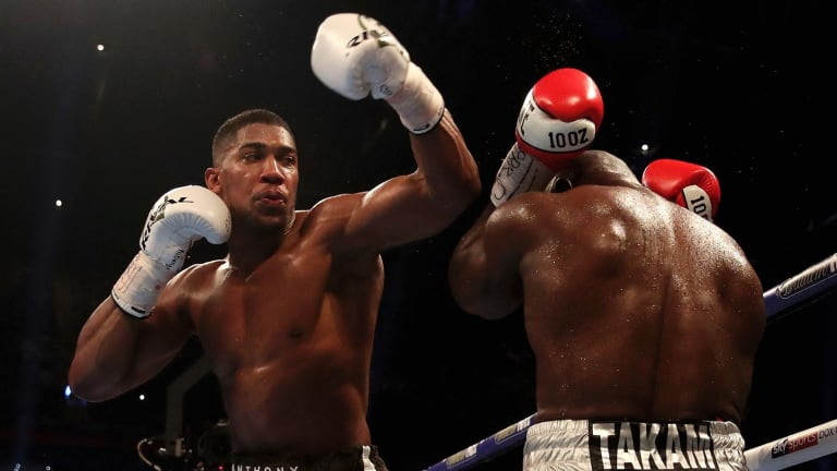 Britain's best: Anthony Joshua successfully defends his heavyweight titles in Cardiff.