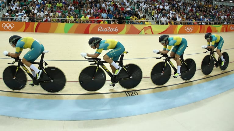 The women's team pursuit classification.