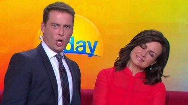 Lisa Wilkinson and colleague Karl Stefanovic.