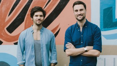 Qwilr co-founders Dylan Baskind and Mark Tanner.