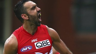 Rested: Adam Goodes is sick and tired of the abuse.