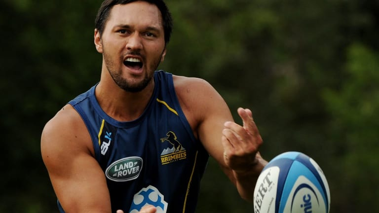 Jordan Rapana made his NRL debut with the Titans, then embarked on his Mormon mission before trying to break into the Super Rugby ranks with the ACT Brumbies.
