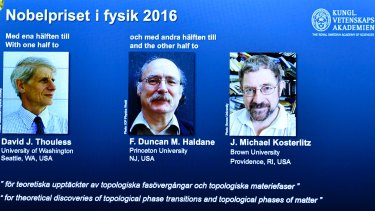 Royal Swedish Academy of Sciences announces the winners of the Nobel prize in physics.