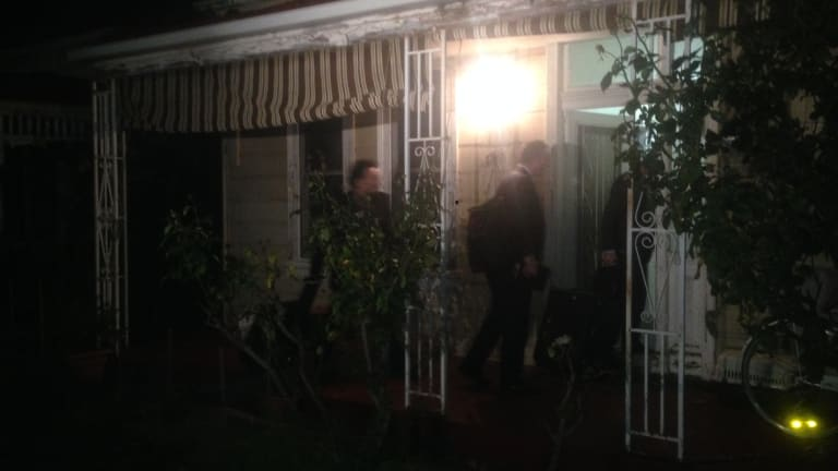 AFP raid on Labor staffer's house in Brunswick, Victoria on Thursday night.