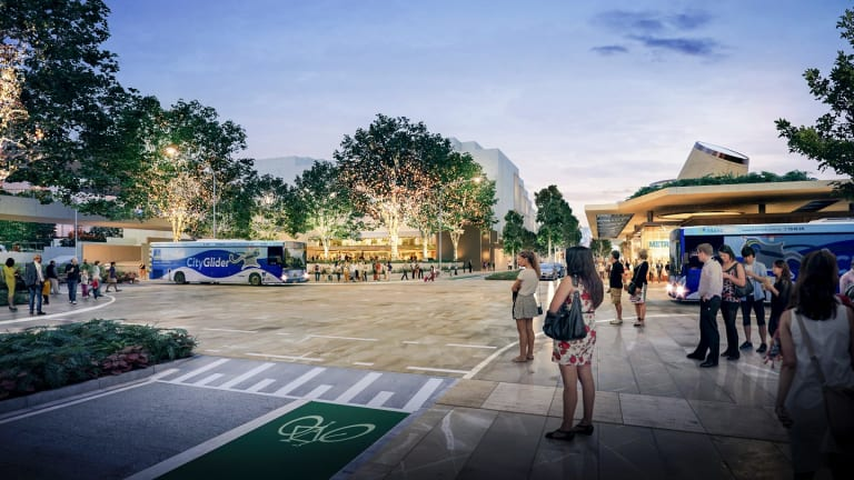 The Cultural Centre precinct could become much more pedestrian friendly once the Brisbane Metro underground station was built.