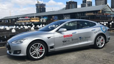 One of the driverless cars soon to be on Melbourne's freeways.