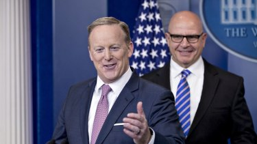 Sean Spicer, White House press secretary - for now.