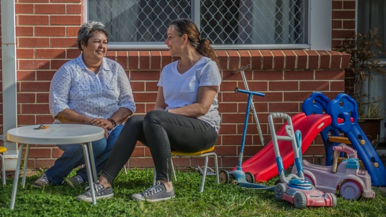 Robyn Martin (left) and Angie Piubello warn children fleeing violence in the ACT are falling through the cracks in the system, still not treated as clients in their own right.