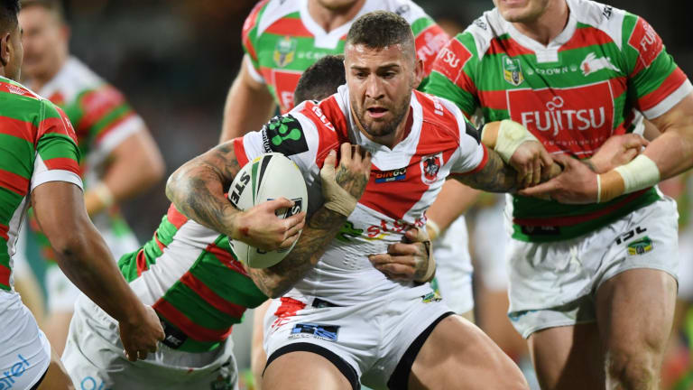 Going north: Joel Thompson will strip off the 'Red V' in favour of Manly colours next season.