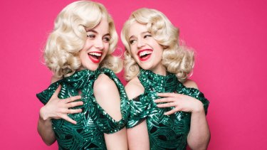 Actors Laura Bunting and Kerrie Anne Greenland play twins in <i>Side Show</i>.