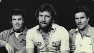 Cricketers Trevor, Ian and Greg Chappell.