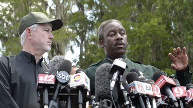 Orange County Sheriff Jerry Demings (right) with Nick Wiley, executive director of the Florida Fish & Wildlife Conservation Commission.