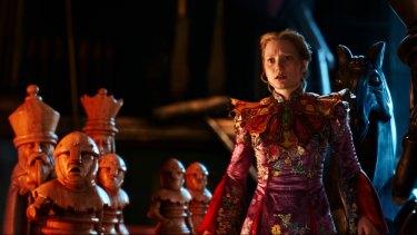 Mia Wasikowska as the intrepid traveller Alice.