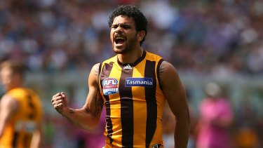 Cyril Rioli was one of the Hawks' best.