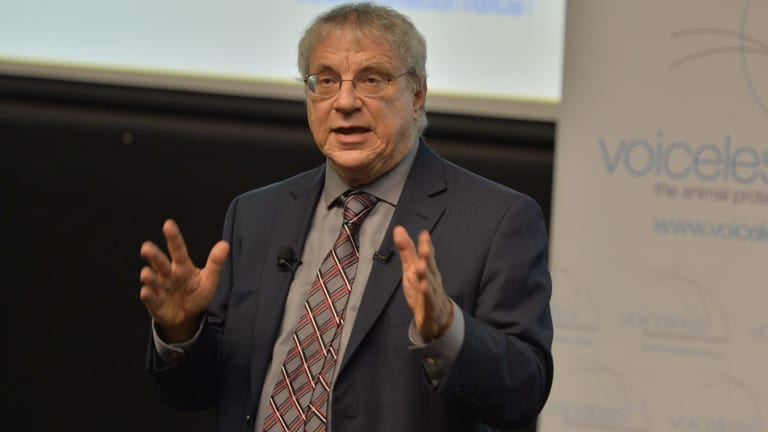 Lifelong campaign: Nonhuman Rights Project president Steven Wise talks during the 2015  Animal Law Lecture Series.