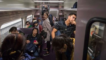 Western Sydney commuters contend daily with crowded trains.