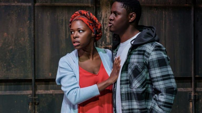Darlinghurst Theatre Company's <i>Maggie Stone</i>, starring Branden Christine and Thoso Lekwape.