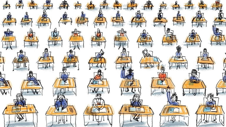The great divide: Examiners must separate students so a beautiful bell curve appears.