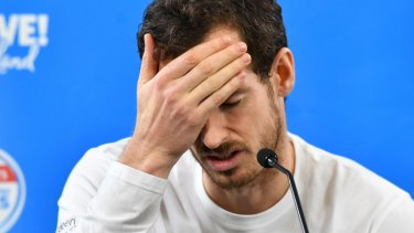 Heading home: Andy Murray.