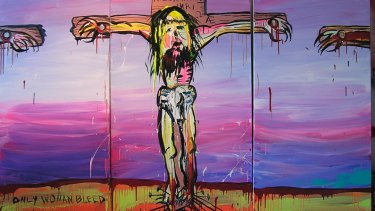 """""""It's just a Jew on the cross"""": Adam Cullen said this of his depiction of Christ, which was entered in the 2008 Blake Prize."""