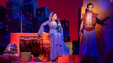 Ainsley Melham as Aladdin and Hiba Elchikhe as Princess Jasmine.