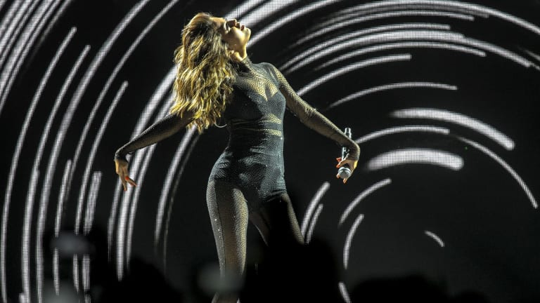 Pop singer Selena Gomez is seen performing on stage at Margaret Court Arena during her Revival World Tour on August 6, 2016 in Melbourne, Australia.